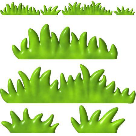 Frise Enfant Herbe 2 Stickers Malin