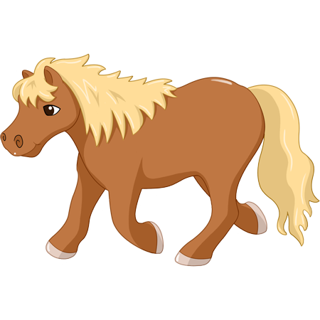 Stickers poney stickers malin - Cheval dessin couleur ...