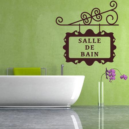 stickers enseigne salle de bain stickers malin