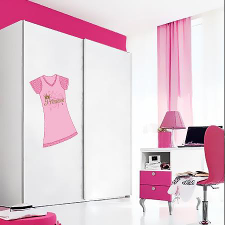 Stickers armoire princesse stickers malin for Stickers pour armoire