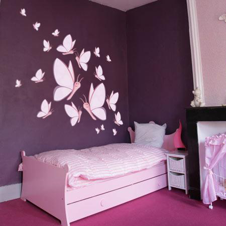 Stickers a rien envol e de papillons f eriz stickers malin for Decoration murale chambre fille