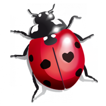 Stickers coccinelle girly rouge