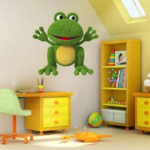 Stickers grenouille peluche 1