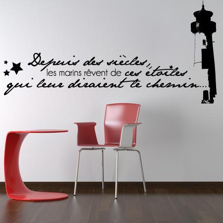 stickers citation marin stickers malin. Black Bedroom Furniture Sets. Home Design Ideas
