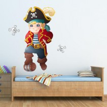 Stickers capitaine blond - ptits pirates