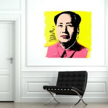 Poster Pop Art Mao sur fond jaune