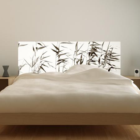 stickers t te de lit zen bambous stickers malin. Black Bedroom Furniture Sets. Home Design Ideas