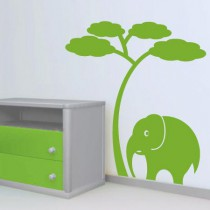 Stickers Elephant naif