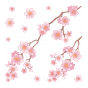 Stickers adorable branche fleurie - cherry blossom
