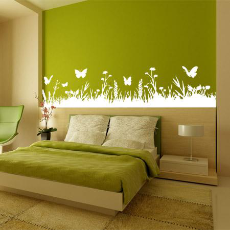 stickers t te de lit herbe stickers malin. Black Bedroom Furniture Sets. Home Design Ideas