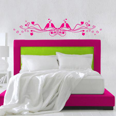 stickers t te de lit branche coeur stickers malin. Black Bedroom Furniture Sets. Home Design Ideas