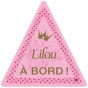 Stickers Auto Personnalisable Princesse