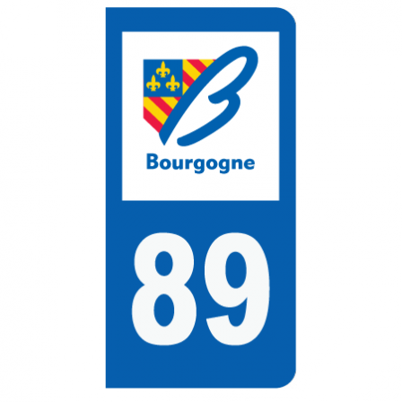 Stickers plaque 89 Bourgogne