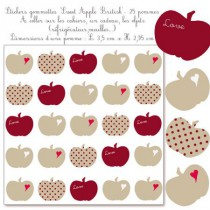 Stickers gommettes - Sweet Apple British