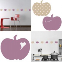 Stickers Home Déco -  Apple Sweet - Mauve - Coeur