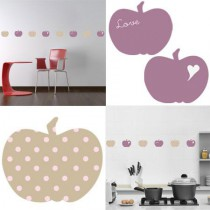 Stickers Home Déco -  Apple Sweet - Beige - Pois roses