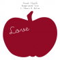 Stickers Home Déco -  Apple Sweet - Rouge cerise - Love