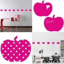 Stickers Home Déco - Apple Sweet - Magenta - Pois blancs