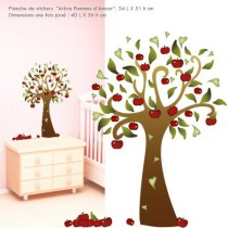 Stickers illustration -  Arbre Pommes d Amour