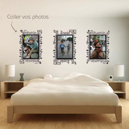 Stickers cadre reverie stickers malin - Tableau velleda a coller ...
