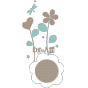 Stickers Sweet Graphique - Floral Dream - Bleu praline