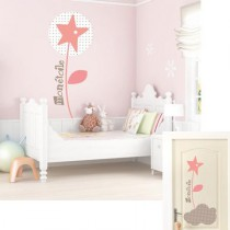 Stickers Sweet Graphique -  Etoile Florale - Rosee