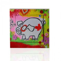 Stickers Interrupteur Green pig