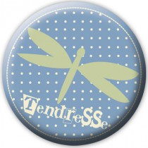 Badge Tendresse - Bleu olive