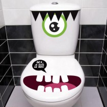 Stickers WC Monstre 2