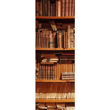 Stickers porte vertical bibliotheque de livres anciens for Stickers bibliotheque porte