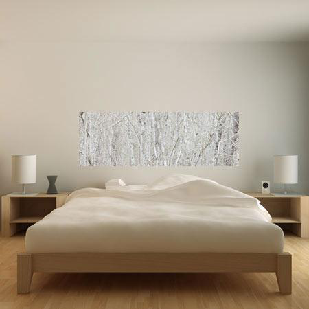 stickers tete de lit horizontal texture zen de branches. Black Bedroom Furniture Sets. Home Design Ideas