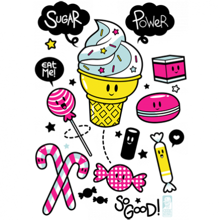 Stickers Sugar Power
