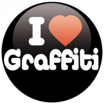 Badge I love Grafitti