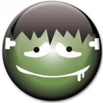 Badge Halloween homme Frankenstein