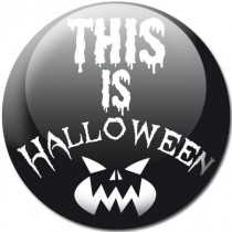 Badge Halloween this is blanc