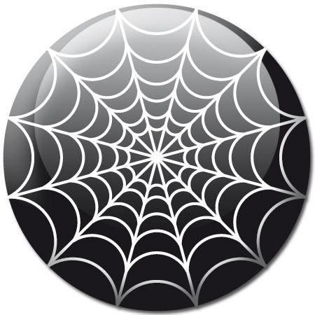 badge halloween toile araign e noir stickers malin. Black Bedroom Furniture Sets. Home Design Ideas