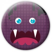 Badge Halloween Mme Monstre