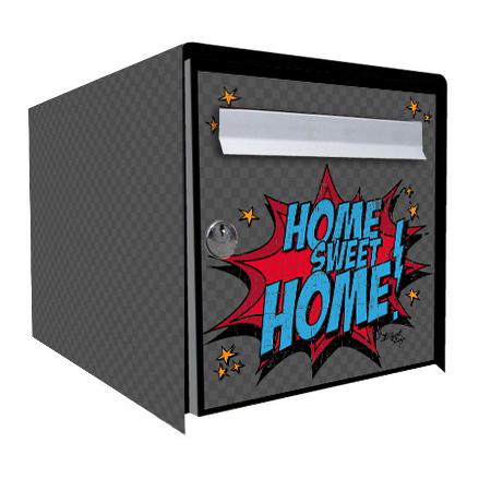 stickers bo te aux lettres sweet home stickers malin. Black Bedroom Furniture Sets. Home Design Ideas