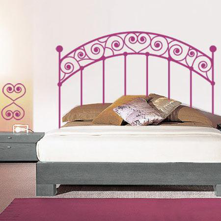 stickers t te de lit romantique stickers malin. Black Bedroom Furniture Sets. Home Design Ideas