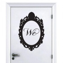 Stickers porte baroque wc