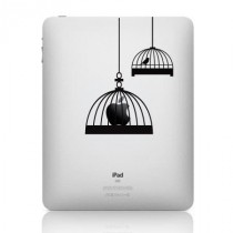 Stickers iPad cage oiseaux