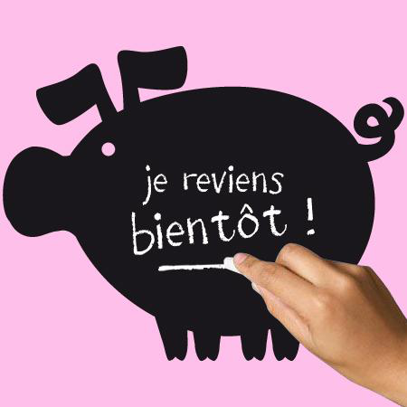 Stickers ardoise cochon stickers malin - Tableau velleda a coller ...