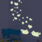 Stickers Coeur Oiseaux Luminescent
