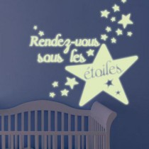 Stickers Etoiles Luminescent