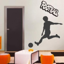 Stickers footballeur, frappe