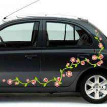 Stickers Voiture Frise Florale