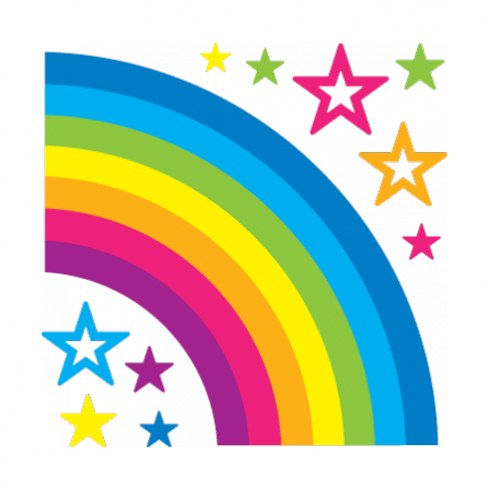 stickers Rainbow and stars