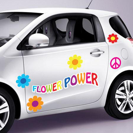stickers voiture flower power stickers malin. Black Bedroom Furniture Sets. Home Design Ideas