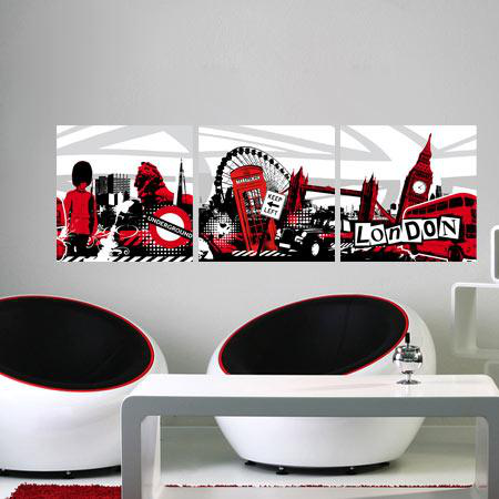 stickers london graphic 01 stickers malin. Black Bedroom Furniture Sets. Home Design Ideas