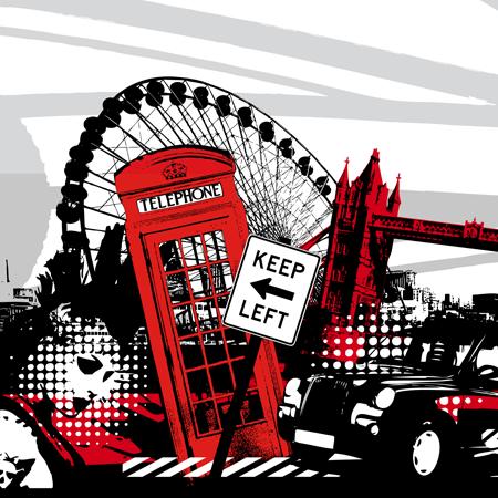 Stickers interrupteur london graphic 1 stickers malin - Stickers porte london ...